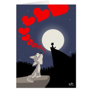 L'appel de la carte de voeux d'amour