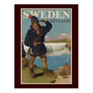 Lappland Sweden Postcard