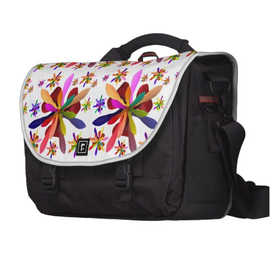 Laptop Bag with Stylized Flower 1