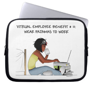 Laptop case for virtual workers