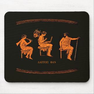 Laptop fan, ancient Greek school lesson Mouse Pad