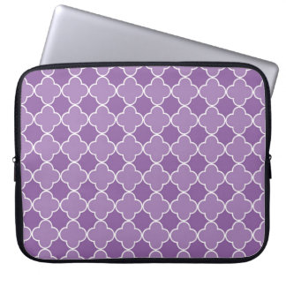 Laptop Purple Quatrefoil Pattern Laptop Sleeve