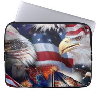 Laptop sleeve 13 in with zipper patriot theme