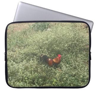 Laptop sleeve chicken in wild
