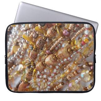 Laptop Sleeve- Earth Tones Bead Print Laptop Sleeve