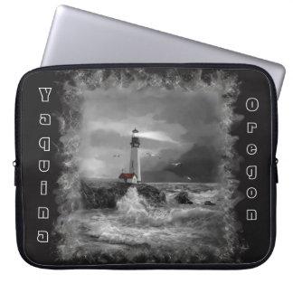 Laptop Sleeve, Seascape and Oregon Lighthouse Computer Sleeve