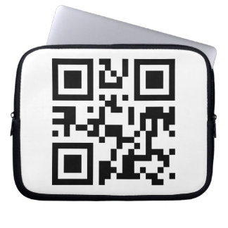 Laptop Sleeve with QR code