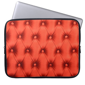 Laptop Sleeve with red capitone