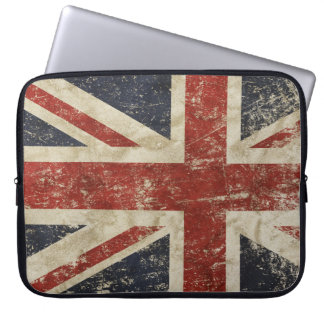 Laptop Sleeve with vintage flag of Britain