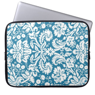 Laptop Teal Damask Pattern Laptop Sleeve
