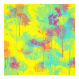 L'aquarelle abstraite d'été éclabousse la copie de photographe
