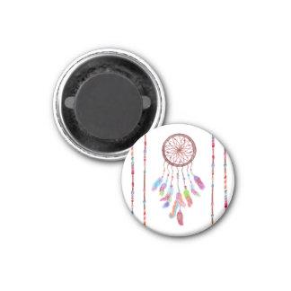 L'aquarelle peinte à la main Dreamcatcher perle la Magnet Carré 2,50 Cm