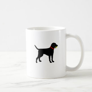 Larador Fetch, Black Lab play ball Coffee Mug
