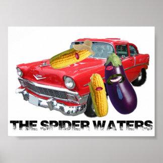 L'araignée arrose l'affiche de souteneur poster