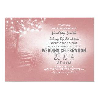 l'arbre avec de la ficelle allume le mariage carton d'invitation  12,7 cm x 17,78 cm