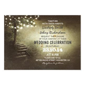 l'arbre avec de la ficelle allume les invitations carton d'invitation  12,7 cm x 17,78 cm