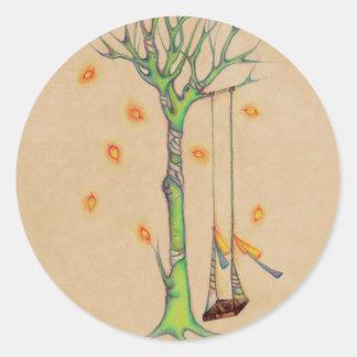 L'arbre de fantôme et vident l'oscillation en auto adhésifs ronds