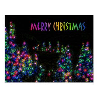 L'arbre de Joyeux Noël allume la carte postale
