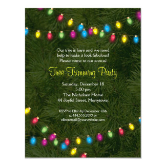 L'arbre de Noël allume l'invitation de partie