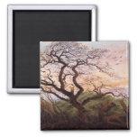 L'arbre des corneilles, 1822 magnet carré