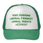 L'arbre étreignant des droits des animaux féminist casquette