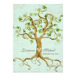 L'arbre moderne de remous enracine le parchemin an invitations personnalisées