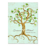 L'arbre moderne de remous enracine le parchemin invitations personnalisées