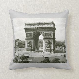 L'Arc de Triomphe, Paris France Vintage Throw Pillow