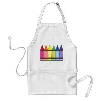 L'arc-en-ciel coloré crayonne le tablier de