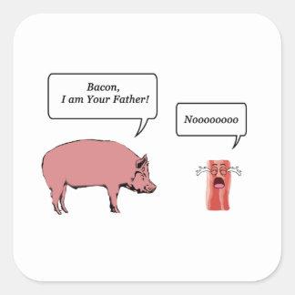 Lard, je suis votre père sticker carré
