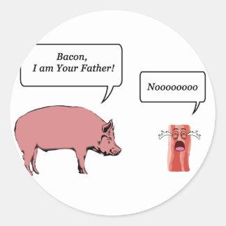 Lard, je suis votre père sticker rond