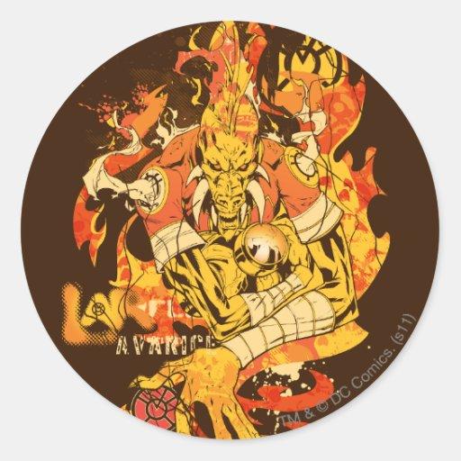 Larfleeze - Agent Orange 10 Round Stickers