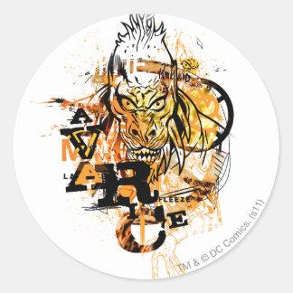 Larfleeze - Agent Orange 11 Round Sticker