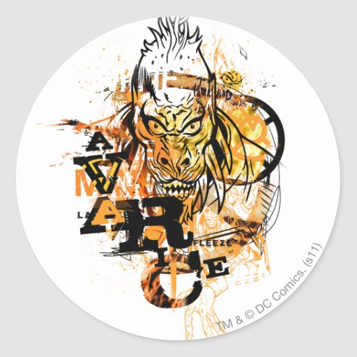 Larfleeze - Agent Orange 11 Round Stickers