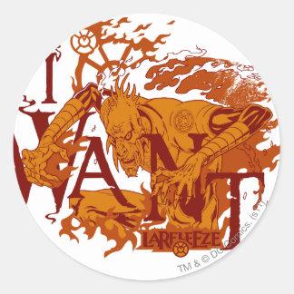 Larfleeze - Agent Orange 12 Round Sticker