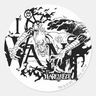 Larfleeze - Agent Orange 13 Round Sticker