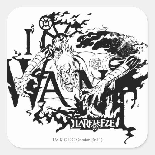 Larfleeze - Agent Orange 13 Square Sticker
