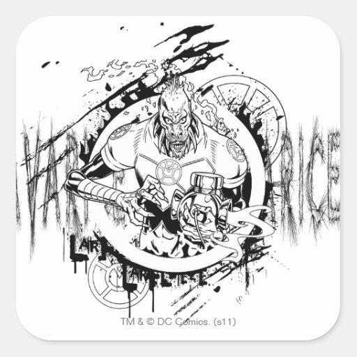 Larfleeze - Agent Orange 15 Square Sticker