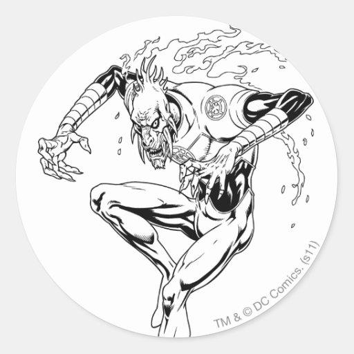 Larfleeze - Agent Orange 3 Round Sticker