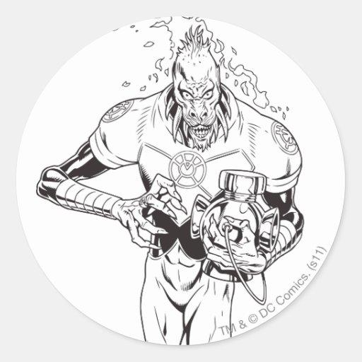 Larfleeze - Agent Orange 6 Round Sticker