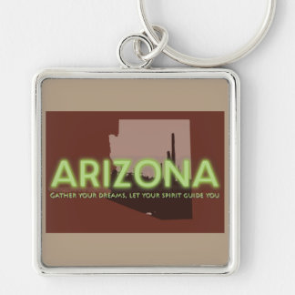 "Large (2.00"") Prem. Square Keychain ARIZONA SPIRIT"