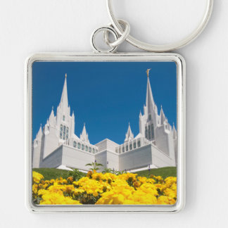 "Large (2.00"") Square Keychain San Diego Temple"