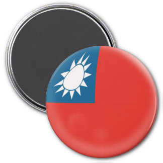 Large 3 inch magnet - Taiwan Taiwanese flag