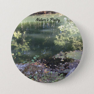 """Large 3"""" Round Button with Nature's Poetry"""