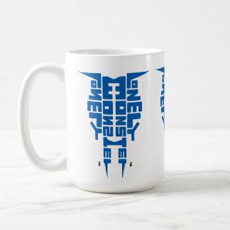 Large 444 ml White Mug with Blue Totem logo