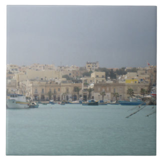 "Large (6"" x 6"") Ceramic Photo Tile. Malta. Tile"