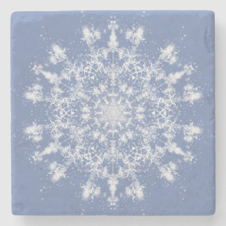 Large Abstract Lacy Snowflake Stone Coaster