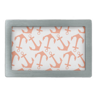 LARGE ANCHORS CORAL Theme Rectangular Belt Buckles