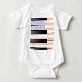 Large and Small Old Glory Keys Baby Bodysuit