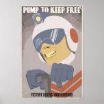 Large - Arcade game propaganda poster